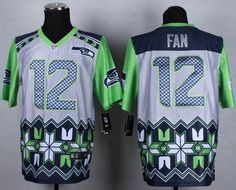 76903bec6 Nike Seattle Seahawks #12 Fan Grey Men's Stitched NFL Elite Noble Fashion  Jersey. Panthers