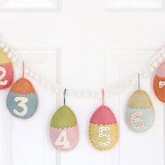 Easter countdown calendar - advent style