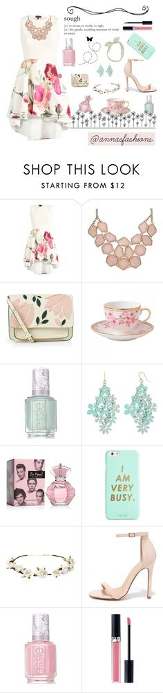 """""""New Romantics"""" by annasfashions ❤ liked on Polyvore featuring Accessorize, Wedgwood, Essie, Decree, ban.do, Cult Gaia, Liliana, Christian Dior and Carole"""