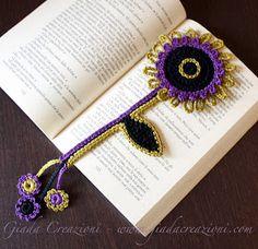 Giada Creazioni: Per chi ama la lettura, un fiore per segnalibro...