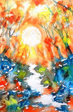Cristina Dalla Valentina Art: Verso il Sole - Towards the Sun - www.cristinadallavalentina.com