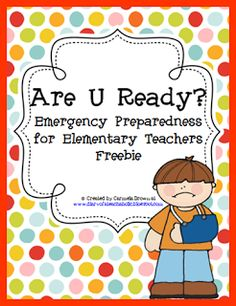 Are U Ready to Boogie? (FREEBIE!!!) Emergency kit for teachers!!