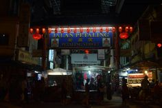 China town is very colorful and very well decorated with red lanterns all over the street. It is located on Petaling street.