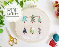 66 cute and simple christmas crafts Ideas for kids, christmas crafts for kids to make, diy christmas gifts, diy christmas crafts Christmas Embroidery Patterns, Hand Embroidery Patterns, Embroidery Designs, Snowflake Embroidery, Christmas Crafts For Kids To Make, Christmas Sewing, Christmas Tree, Christmas Lights, Simple Christmas