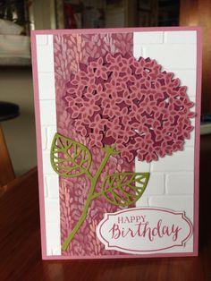 Nancy's hydrangea card