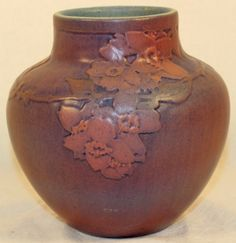 Newcomb College Pottery 1916 Cherokee Rose Vase (Irvine) from Just Art Pottery