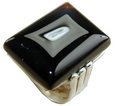 Beautiful Ring with Onyx, Garnet Faceted Gemstones, 925 Sterling Silver Jewelry Setting with Natural Gemstone $91.20