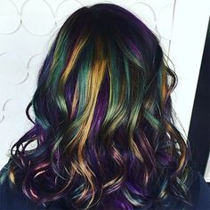 This GIF Shows Just How Cool the Oil Slick Hair Trend Is | allure.com