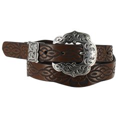 Shyanne® Women's  Flower Tooled Leather Belt - HHPP
