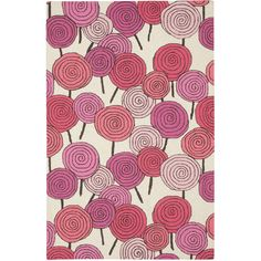Capel Rugs Lollipops Stick Candy Pink Multi Wool Rug #laylagrayce