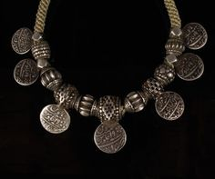 Orissa Silver Necklace  Orissa, India, late 19th century. Silver with contemporary crown knotting.