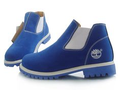 Have A Sport Time With Timberland Men's Chukka Boots-White,Blue Timberland Custom Boots Are Fast Delivery To Your Door