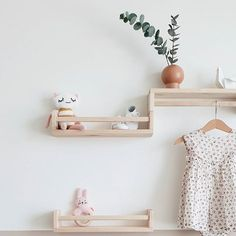 All the pretty little details in this sweet nursery housed on these cute shelves that are in fact spice racks from @ikeauae ... And finished in the nick of time! . . . #babygirl #projectnursery #nurserydecor #nurseryinspo #jotunpaints #jotunsoftskin #ikea #ikeauae #ikeahack #bekväm Ikea Nursery, Nursery Shelves, Shelves In Bedroom, Nursery Room, Girl Nursery, Nursery Ideas, Baby Room Boy, Baby Bedroom, Baby Room Decor