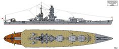 Soon after the design work on the Yamato class battleships finished and the first ships launched preliminary work was started on what to build which wou. Super Yamato class possible variant A Yamato Class Battleship, New Battleship, Gun Turret, Imperial Japanese Navy, Design Department, Oceans Of The World, Navy Ships, Military Equipment, War Machine