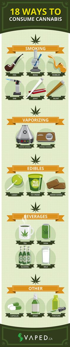 18 Ways to Consume Cannabis [Infographic] Order it on http://Papr.Club as a Monthly Subscription