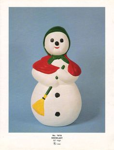 Vintage Christmas Blow Mold ~ Snow Lady by Union Products
