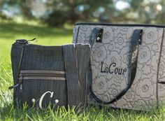 Love that you can personalize our bags! This is the Organizing Shoulder Bag and the lovely Cindy Tote