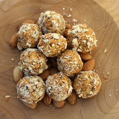 "Carrot Cake Ball- a nice ""raw"" snack.  Good with coffee or as fuel before a run.  My rating: 4/5 stars"