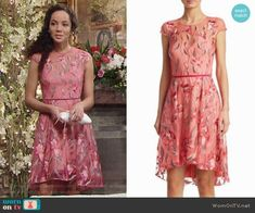 Marchesa Embroidery Fit and Flare Dress worn by Lexie Stevenson on The Young & the Restless