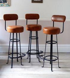 Vintage Bar Stools With Backs