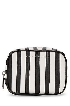 Marc by Marc Jacobs Flower Paint Large Box Striped Cosmetic Case Marc Jacobs Makeup, Makeup Essentials, Wash Bags, Cosmetic Case, Toiletry Bag, Makeup Cosmetics, Purses And Bags, Beauty Makeup, Top Beauty