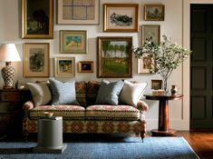 Lee Jofa Sofa With Picture Wall And Table Lamp ~ http://lanewstalk.com/about-lee-jofa-sofa/