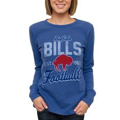 Nike Buffalo Bills Women's Retro Fan V-Neck T-Shirt - Royal Blue