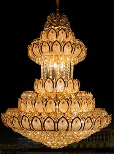 Large Gold Crystal Chandeliers Lustres K9 Led Modern Chandelier Lighting Luxury Cristal Upscale Lustre Living Room Lobby Hotel