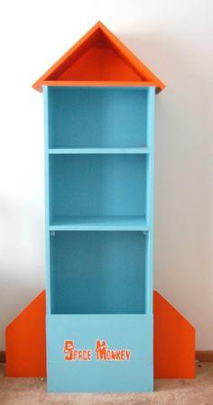 Diy Bookshelf In Navy And Gray