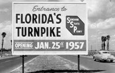 Beginning of the Florida Turnpike, I wonder if it had as many cops/speed traps on it then as it does today ;I'd rather take 95 and stay ticket free.and 95 is free! Old Florida, Vintage Florida, State Of Florida, Florida Travel, Florida Home, Miami Florida, South Florida, Miami Beach, Florida Sunshine