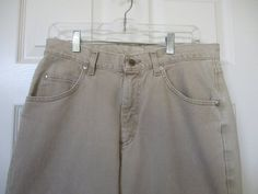 Vtg Lee jeans 1990's Lee Riveted jeans 33 X 32 unisex mens womens beige zipper fly Lee jeans Union L