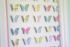 Paper cut out butterflies
