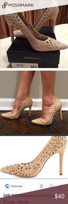 "BCBGeneration Charia Pump Nude size 8.5 Worn once. Color ""warm sand."" BCBGeneration Shoes Heels"