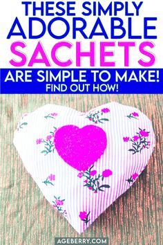 Check out this tutorial on making lavender sachets for closets and drawers. This is a very easy sewing project even for beginners. DIY sachets are great to use in linen drawers, closets and cupboards, and even in cars. And if you make sachets yourself it's an awesome way to use all those pretty fabric scraps. #easysewingprojects #sewingforbeginners #howtosew #diysachets