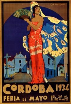 Maria Albaicin 1973 Spanish Flamenco Dancer Vintage Poster Print Retro Style