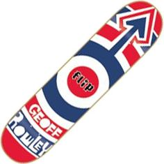 Geoff Rowley • Flip skate deck