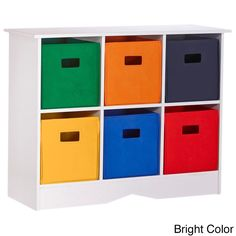 RiverRidge Kids White 6-bin Bookcase Cabinet (  sc 1 st  Pinterest & Altra Kidsu0027 Pink Flower Bin Storage System | Overstock.com Shopping ...