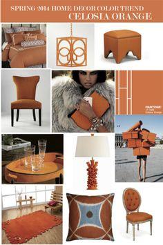 "Pantone Spring 2014 Home Decor Color Trend ""Celosia Orange"" – Vielle and Frances"