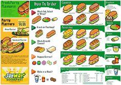Pixel Art Menu (SUBWAY sandwich) Subway Sandwich, Sandwich Menu, Sandwich Platter, Sandwich Recipes, Pixel Art, Diner Menu, Chicken Slices, Food Menu Design, Recipes