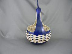 Hand Woven Gourd Basket in Blue by wetdogstudios on Etsy