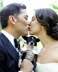 Lola, this pair's beloved Chihuahua, made it into more than a few of the wedding portraits