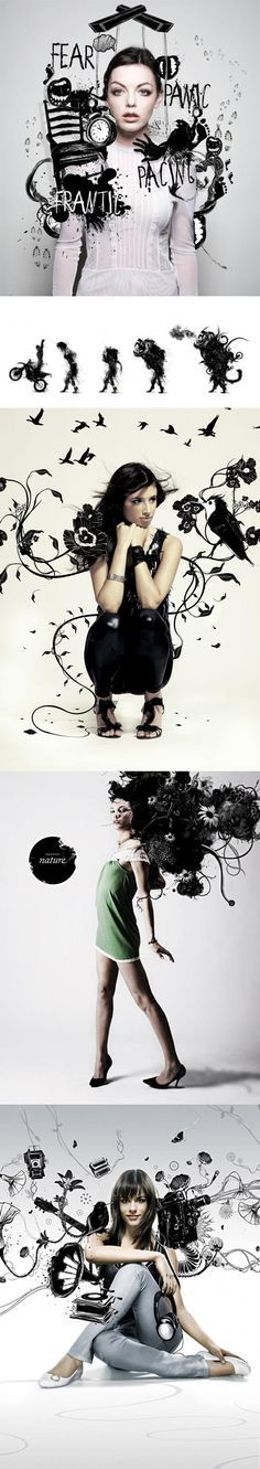 Love the combo of photo and ink!