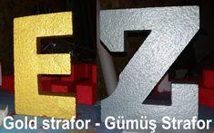 varak strafor - gold strafor - altın varak strafor - gümüş strafor - altın rengi strafor boyama - 0 212 428 82 18