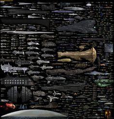 Incredible sci-fi spaceship comparison chart
