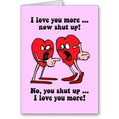 Cute and funny Valentine's Day Greeting Card