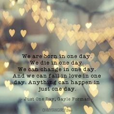 Just One Day - Gayle Forman | OhMyFangirly.com