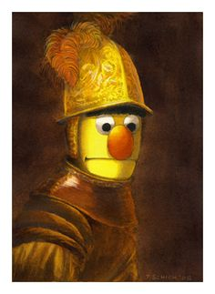 Image detail for -Rembrandt_Man In Golden Helmet_Sesame Street Muppets_Parody