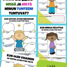 Tunne- ja vuorovaikutustaidot - tunteiden tunnistaminen - Viitottu Rakkaus Nursery School, Pre School, Emoji, Family Guy, Classroom, Teaching, Adhd, Toddlers, Mindfulness