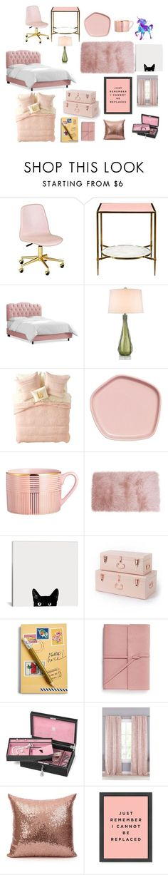 """Marinette's Room"" by prerana-telugu on Polyvore featuring interior, interiors, interior design, home, home decor, interior decorating, Kate Spade, Zephyr, Nordstrom Rack and Vera Bradley"
