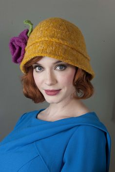 Free knitting pattern for a knit and felted pork pie hat. Can be ... 1673a859733